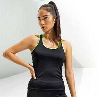 Customisable, personalise Women's TriDri® Panelled Fitness Vest - Stitch & Print NI