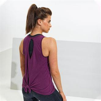 Customisable, personalise Women's TriDri® Tie-Back Vest - Stitch & Print NI