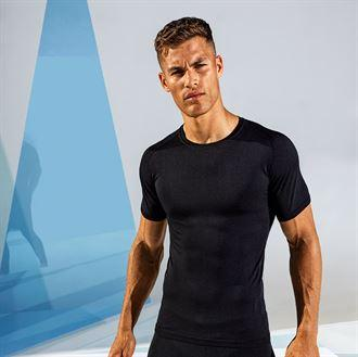 Customisable, personalise TriDri® Seamless '3D Fit' Multi-Sport Performance Short Sleeve Top - Stitch & Print NI