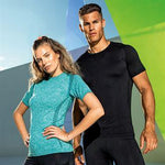 Customisable, personalise Women's TriDri® Sseamless '3D Fit' Multi-Sport Performance Short Sleeve Top - Stitch & Print NI
