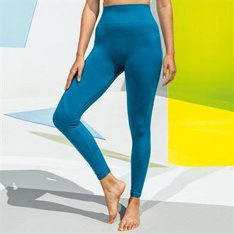 Customisable, personalise Women's TriDri® Seamless '3D Fit' Multi-Sport Sculpt Solid Colour Leggings - Stitch & Print NI