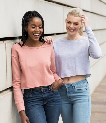 AWDis Girlie Cropped Sweatshirt