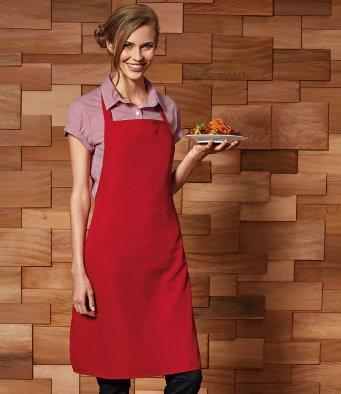Customisable, personalise Premier 100% Polyester Bib Apron - Stitch & Print NI