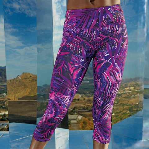 Customisable, personalise Women's TriDri® Performance Jungle Leggings ¾ Length - Stitch & Print NI