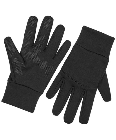Beechfield - Black Softshell Sports Tech Gloves