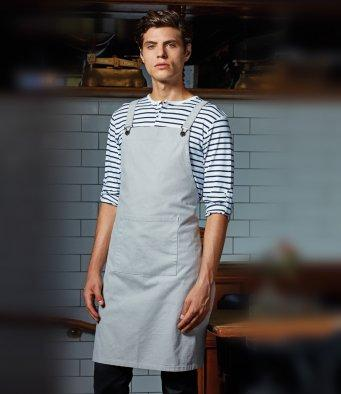 Customisable, personalise Premier Cross Back 'Barista' Bib Apron - Stitch & Print NI