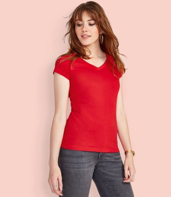 SOL'S Ladies Moon V Neck T-Shirt