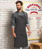 Customisable, personalise Premier Striped Bib Apron - Stitch & Print NI
