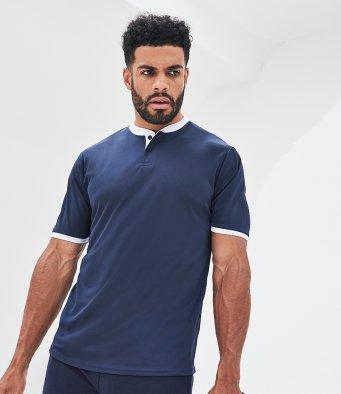 Customisable, personalise AWDIS Cool Stand Collar Sports Polo - Stitch & Print NI