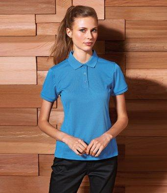 Customisable, personalise Premier Ladies Coolchecker® Plus Piqu© Polo Shirt - Stitch & Print NI