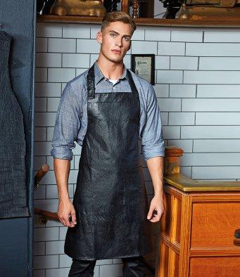 Customisable, personalise Faux Leather Bib Apron - Stitch & Print NI