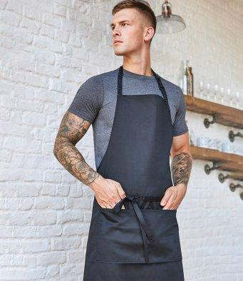 Customisable, personalise Bargear® Bib Apron with Pocket Superwash® 60°C unisex (Classic Fit) - Stitch & Print NI