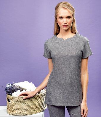 Customisable, personalise Premier Viola 'Linen Look' Cut Neck Beauty Tunic - Stitch & Print NI