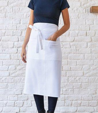 Customisable, personalise Bar Apron Long Superwash® 60°C Unisex (Classic Fit) - Stitch & Print NI