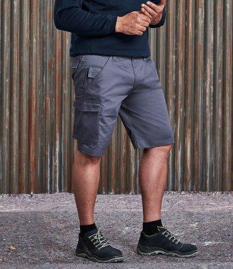 Customisable, personalise Russell Workwear Poly/Cotton Shorts - Stitch & Print NI