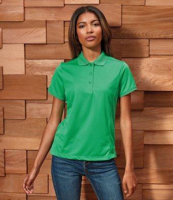 Customisable, personalise Premier Ladies Coolchecker® Piqu© Polo Shirt - Stitch & Print NI