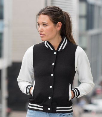 AWDis Girlie Varsity Jacket- Save £4 net