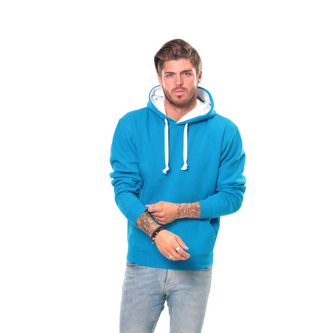 Customisable, personalise Cottonridge Premium Contrast Hoodie - Stitch & Print NI