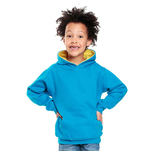 Customisable, personalise Cottonridge Premium Kids Contrast Hoodie - Stitch & Print NI