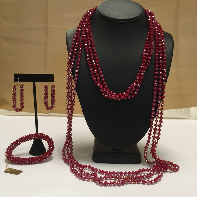 Style Plus Boutique Red Necklace - Style Plus Consignment Boutique