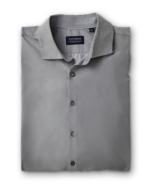 The HonourMark Corduroy Sport Shirt - Fog Grey - Saks