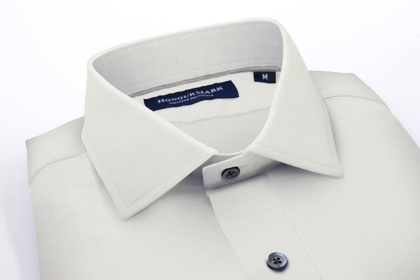 The Combed Cotton Twill Sport Shirt - Bone White