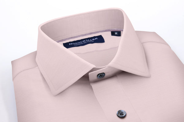 The Combed Cotton Twill Sport Shirt - Soft Pink