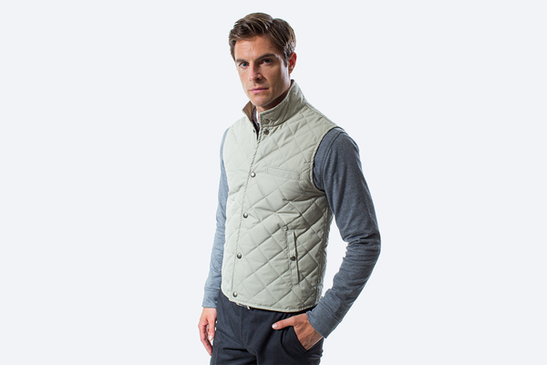 The HonourMark Quilted Vest - Stone