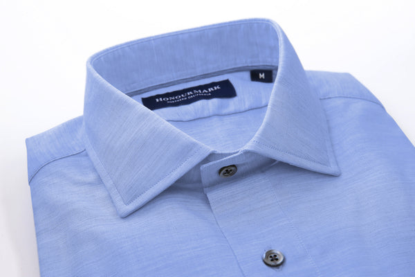 Tencel Dyed Oxford Sport Shirt - Pool Blue