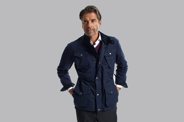 The British Motorcycle Jacket - Navy