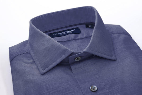 Tencel Dyed Oxford Sport Shirt - Dark Navy