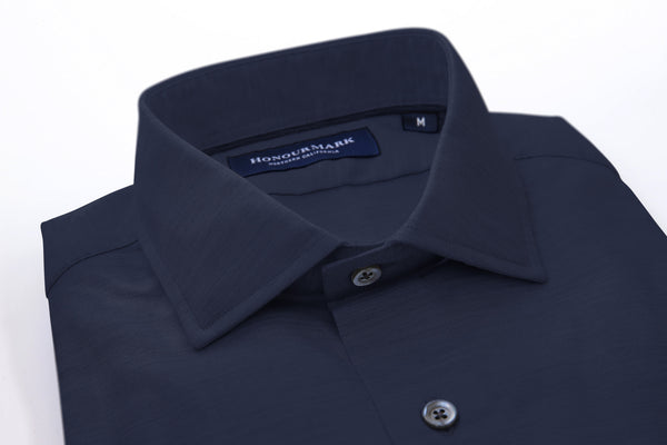 Tencel Dyed Oxford Sport Shirt - Deep Dusk