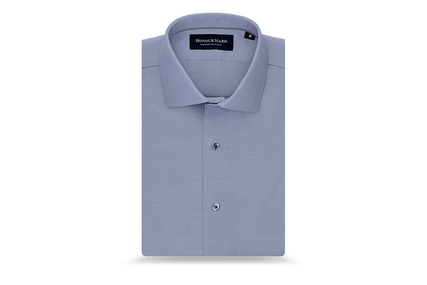 The Combed Cotton Twill Sport Shirt - Pale Periwinkle