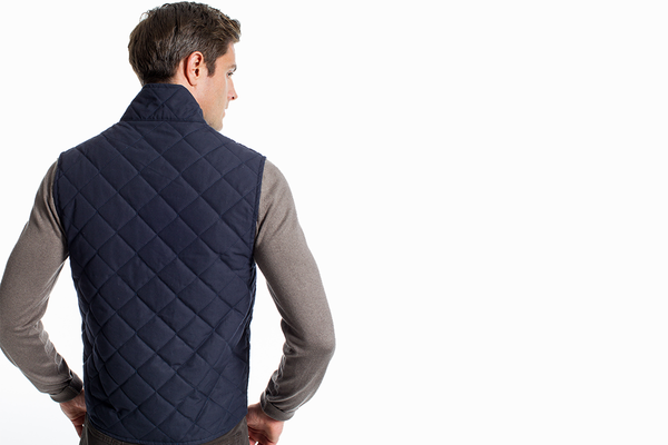 The HonourMark Quilted Vest - Navy