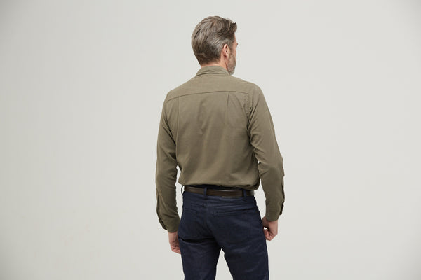 The Corduroy Sport Shirt - Burnt Olive