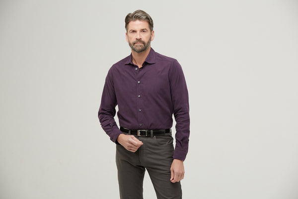 The Corduroy Sport Shirt - Fig Purple
