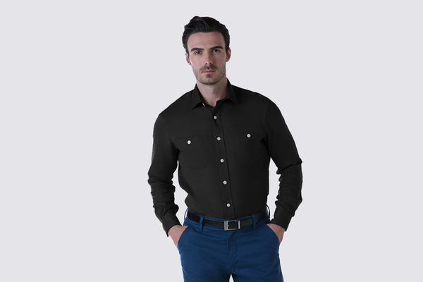 The Tencel Twill Work Shirt - Deep Indigo