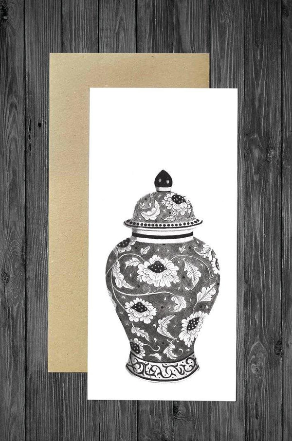 Ginger Jar Card - Cathy Hamilton Artworks