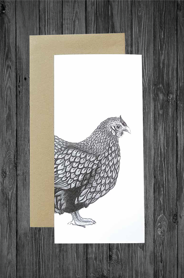 Hen Card - Cathy Hamilton Artworks