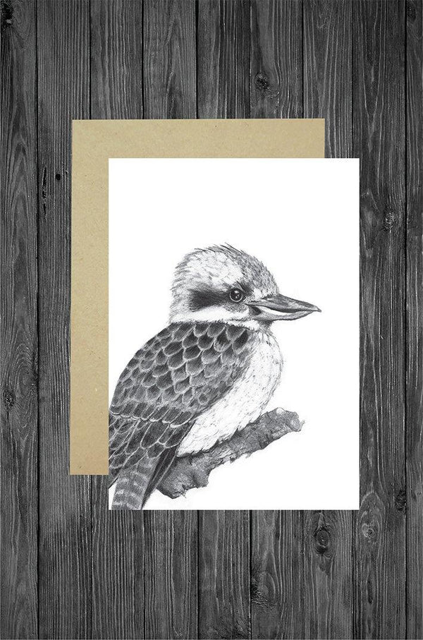 Kookaburra Card - Cathy Hamilton Artworks
