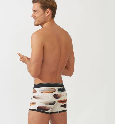 Stonemen Underwear Men's Boxer Brief - Feathers