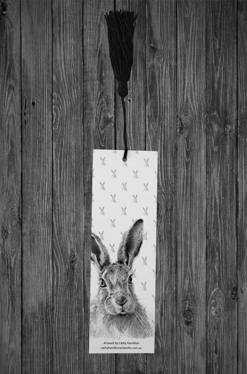 Hare Bookmark - Cathy Hamilton Artworks