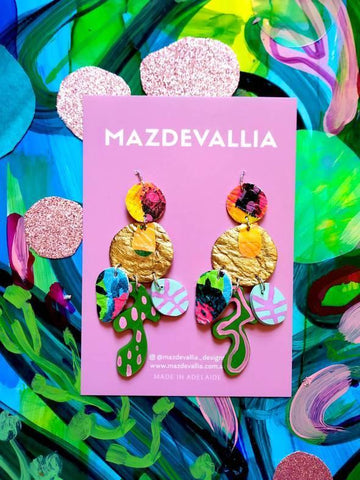 MAZDEVALLIA   Jewel of the River Statement Earrings