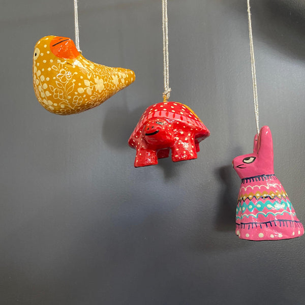 Christmas Decorations - Papier Mache Animals