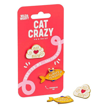 Wild & Woofy 'Cat Crazy' Pin & Tag Set