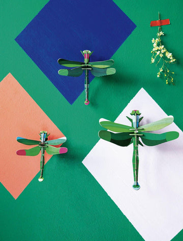 Studio Roof - Wall Decoration Insects - Set of 3 Dragonflies