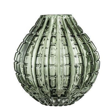Glass Vase - Dark Green
