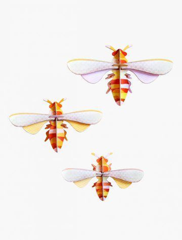 Studio Roof - Wall Decoration Insects - Set of 3 Honey Bees
