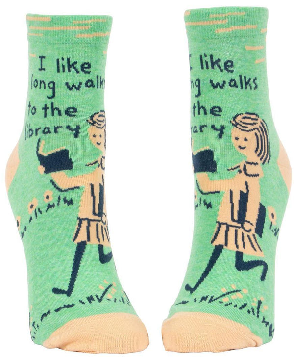 Novelty Socks - Long Walks to the Library