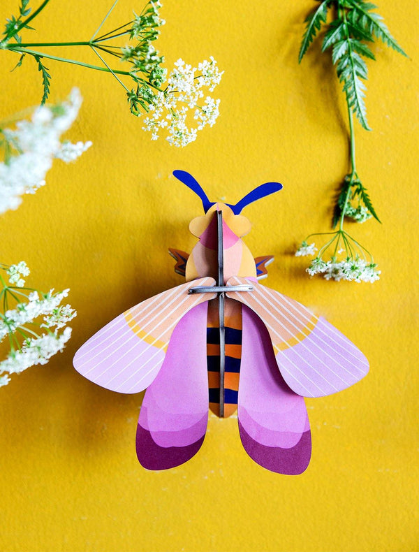 Studio Roof - Wall Decoration Insects Small - Pink Bee